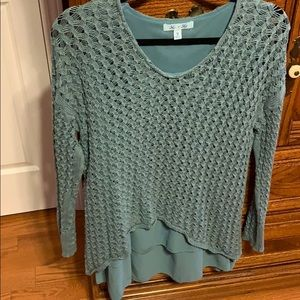 Turquoise she&sky blouse